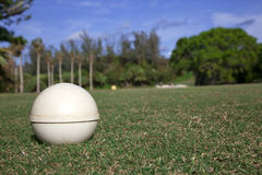 Tee Box. Close-up of a tee box on a lush golf course Stock Photography