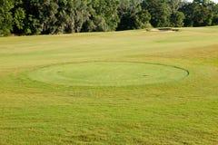 Tee Box. On Florida golf course resort Stock Image