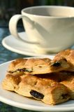 Tee-Bruch mit Biskuiten Lizenzfreies Stockbild