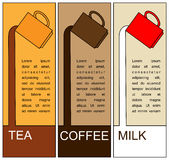 Tee-coffee-milk Stock Images