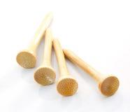 Tee de golf de bambú Imagen de archivo