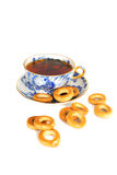 Tee and dray rings cookies. Royalty Free Stock Photography