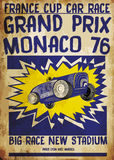 Tee ggraphic vintage race car for printing.vector  Stock Photos