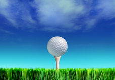 Tee and golf-ball stock illustration