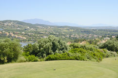 Tee golf course. Tee in an Andalusian golf course with beautiful views Stock Photo