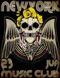 Tee graphic design Skull vector Royalty Free Stock Photo