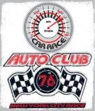 Tee graphic kids sports logo auto service Stock Photo