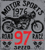 Tee Graphic Motorcycle label t shirt design  Stock Images