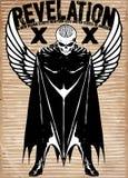 Tee graphic skull super hero man white background Stock Images
