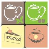 Tee-Kaffee Stockbild