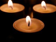 Tee-Kerzen Stockbild