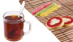 Tee, Kuchen und Gelee Lizenzfreie Stockfotos
