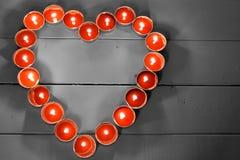 Tee-Licht-Kerzen Lite rote stockfoto