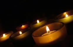 Tee-Lite-Kerze Stockfoto