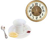 Tee mit 5 Uhr Lizenzfreie Stockfotos