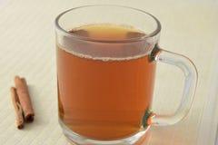Tee mit Kiefernnüssen und -zimt lizenzfreies stockbild