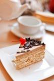 Tee mit Kuchen stockbild