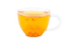 Tee mit Meerwegdorn stockbilder