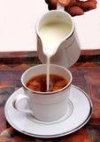 Tee mit Milch Stockbilder