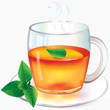 Tee mit Minze Lizenzfreie Stockfotografie