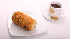 Tee mit Pastete lizenzfreies stockbild