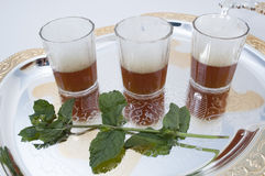 Tee mit Pfefferminz Stockfotos