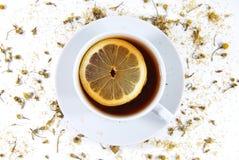 Tee mit Zitrone Lizenzfreies Stockbild