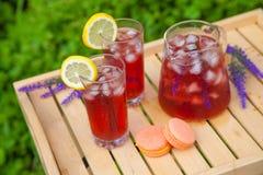 Tee mit Zitrusfruchtlavendel Lizenzfreies Stockbild