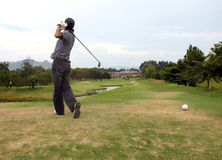 Tee off Royalty Free Stock Photo