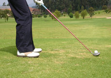 Tee off 2 Royalty Free Stock Photos