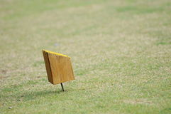 Tee-off. Lawn wood stumps  tee tee-off Royalty Free Stock Images