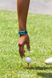 Tee off Royalty Free Stock Image
