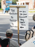 Tee-Party-Protestierender Lizenzfreie Stockfotografie