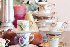 Tee-Partynahaufnahme Stockfoto