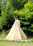 Tee pee. In a forest, Quebec, Canada stock photos