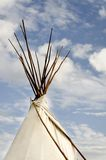 Tee Pee and Clouds Stock Photo