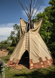 Tee Pee at Jamestown Settlement Virginia Stock Images