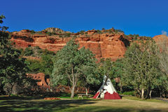 Tee Pee in the mountains Stock Images