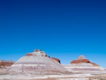 Tee-pee rock formations royalty free stock photo