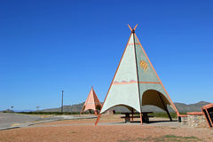 Tee Pee shelters at Texas rest area Royalty Free Stock Images
