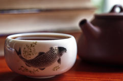 Tee Potenziometer und Teacup Stockbild