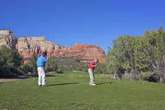 On the Tee in Red Rock Country Stock Photos