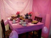 Tee-rosa Partei stockfotografie