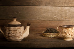 Tee-Satz lizenzfreie stockfotos