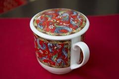 Tee-Schale für chinesischen grünen Tee des Gebräus stockbilder