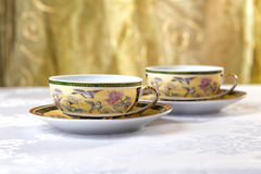 Tee, Schale für Tee auf dem Tisch Lizenzfreies Stockfoto