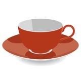 Tee-Schalen-flache Vektor-Illustration Lizenzfreie Stockbilder