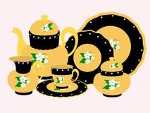 Tee-Set lizenzfreie abbildung