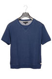 Tee-shirt. Blue male tee-shirt, sports wear Stock Image