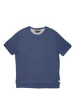 Tee-shirt. Male stockinette shirt in jeans style Stock Image